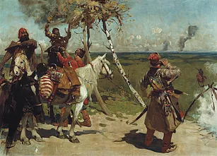 Les russes attendant que leurs ennemis s'ennivrent (At the Southern Border of Muscovy)- Sergey Vasilievich Ivanov -